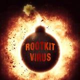 Van het Rootkitvirus het Misdadige Spyware 3d Teruggeven van Cyber Royalty-vrije Stock Afbeeldingen