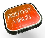 Van het Rootkitvirus het Misdadige Spyware 3d Teruggeven van Cyber royalty-vrije illustratie