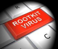 Van het Rootkitvirus het Misdadige Spyware 3d Teruggeven van Cyber stock illustratie