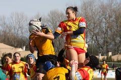 Van het rugby de gelijke USAT (Frankrijk) v GETXO (Spai stock fotografie