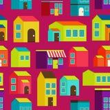 Van het stadsconcept naadloos patroon als achtergrond Stock Fotografie