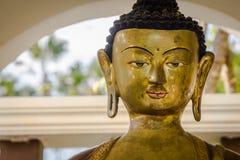 Van het standbeeldboedha van Boedha het beeldgezicht Royalty-vrije Stock Afbeeldingen