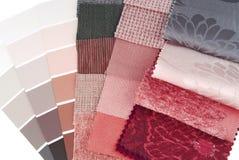 Van het stofferingstapijtwerk en gordijn kleurenselectie Royalty-vrije Stock Foto's