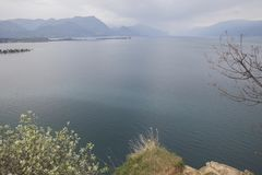 Van het strand op Garda-Meer royalty-vrije stock foto
