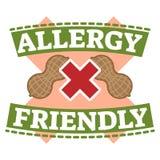 Van het het symboolkenteken van de voedselallergie de vriendschappelijke vectorillustratie Stock Fotografie