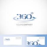 360 van het tekstgraden aantal Stock Fotografie