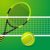 Van het tennis groene ontwerp illustratie als achtergrond eps10 Stock Afbeelding