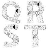 Van het van de bedrijfs tekening het conceptenidee strategieplan van alfabetbrieven Royalty-vrije Stock Afbeelding