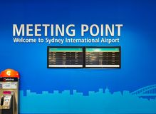 Van het vergaderingspunt en Vertrek Raad, Sydney International Airport, Australië royalty-vrije stock afbeeldingen