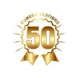 Van het verjaardags gouden vijftig jaar aantal royalty-vrije illustratie
