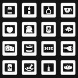 Van het voedselpictogrammen van de winkelnavigatie de tekendriehoekenvector Royalty-vrije Stock Afbeelding