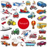 Van het voertuigkarakters van het beeldverhaalvervoer de grote reeks stock illustratie