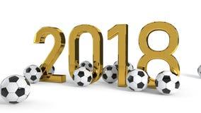van het het voetbalkampioenschap van 2018 het conceptenachtergrond, het 3d teruggeven stock illustratie