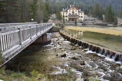 Van het Zuid- dobbiaco toblach dolomiet van het dammeer Tirol Italië Royalty-vrije Stock Fotografie