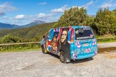 Van hippie, paysage australien photos libres de droits
