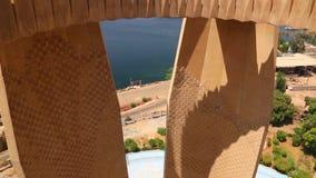 Van hoogste Aswan-Toren - Egypte stock videobeelden