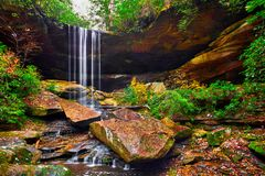 Van Hook Falls, Daniel Boone National Forest, KY. Van Hook Fall in the Daniel Boone National Forest royalty free stock image
