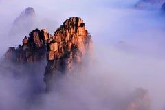 Van Huangshan (de gele) Berg Stock Afbeeldingen
