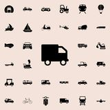 Van Icon Transportez l'ensemble universel d'icônes pour le Web et le mobile illustration stock