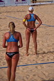 Van Iersel and Senne Keizer. Photo could be used to cover story about recent event in Phuket http://www.fivb.ch/EN/BeachVolleyball/Competitions/WorldTour/2010/ Stock Photos