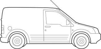 Van illustration Stock Photo