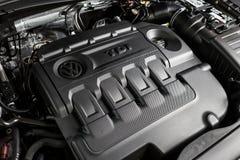 19 van Januari, 2018 - Vinnitsa, de Oekraïne Volkswagen Tiguan pres Stock Foto