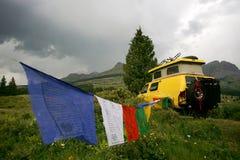 Van jaune Image stock