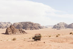 Van Jordan Wadi Rum Desert Royalty-vrije Stock Foto's