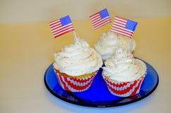 4 van Juli Cupcakes Royalty-vrije Stock Afbeeldingen