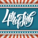 4 van Juli Dn Amerikaanse Onafhankelijkheid typografie Stock Afbeelding