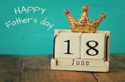 18 van juni Father& x27; s dagconcept Stock Afbeeldingen