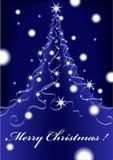 Van Kerstmis abstract blauw als achtergrond met sterren stock illustratie