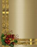 Van Kerstmis gouden linten als achtergrond stock illustratie