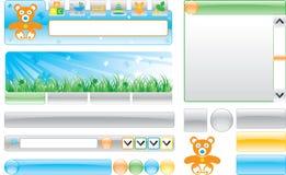 Van kinderen `s- websitemalplaatje Stock Afbeeldingen