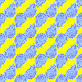 Van krabbelszeeschelpen naadloos patroon als achtergrond Royalty-vrije Stock Afbeelding
