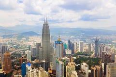 Van Kuala Lumpur (Maleisië) de stadsmening royalty-vrije stock foto's