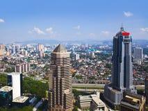 Van Kuala Lumpur (Maleisië) de stadsmening stock fotografie
