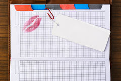 Van labels voorzien notitieboekje Stock Foto's