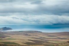 Van Lake bij bewolkte dag Royalty-vrije Stock Afbeelding