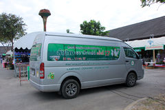 Van of Lampang Ceramic Association. Royalty Free Stock Photography