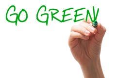 Van las palabras verdes foto de archivo libre de regalías
