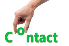 Van letters voorziend Contact Stock Foto's
