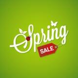 Van letters voorziende het Ontwerpachtergrond van de de lenteverkoop Stock Afbeeldingen