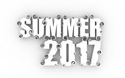 Van letters voorziende illustratie met de zomer van 2017 tekst royalty-vrije illustratie