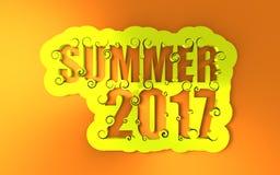 Van letters voorziende illustratie met de zomer van 2017 tekst vector illustratie