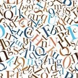 van letters voorziende Patronen Stock Afbeelding