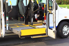 Disabled Access Van. For transporting disabled or handicap with Lift Royalty Free Stock Images
