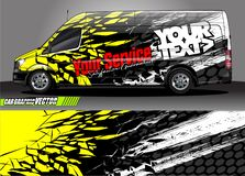 Free Van Livery Graphic Vector. Abstract Grunge Background Design For Vehicle Vinyl Wrap And Car Branding Royalty Free Stock Images - 139320869