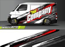 Free Van Livery Graphic Vector. Abstract Grunge Background Design For Vehicle Vinyl Wrap And Car Branding Royalty Free Stock Photos - 139325988