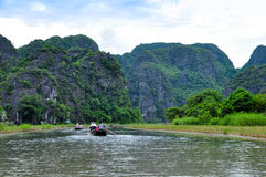 Van Long natural reserve in Ninh Binh, Vietnam Stock Photos